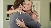 Brandi love milf with big boobs takes two cocks