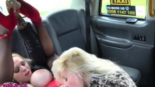 Female Fake Taxi Insatiable horny busty blondes sexy taxi fuck session