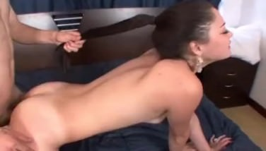 Turkish girl bends over and gets