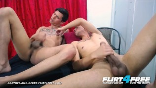Danniel and Derek on Flirt4Free – Big Dicked Latino Twinks Enjoy Rough Barebacking and Rimming