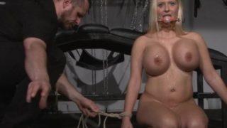 Busty german slave Melanie Moons tounge tied