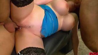 German Goo Girls – Super Busty MILF Melanie Moon Gets Her Holes Full