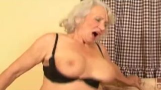 Granny likes the young cocks
