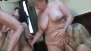 Group of horny fat house wives having