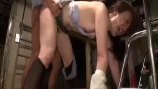 Japanese Office Girl in Black Pantyhose Abuse and Humiliation