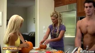 Phoenix Marie And Jessica Lynn Fucked After Pumpkin carving
