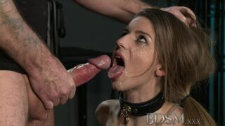 Stella Cox anal: BDSM sex slave tied up gets anal fuck