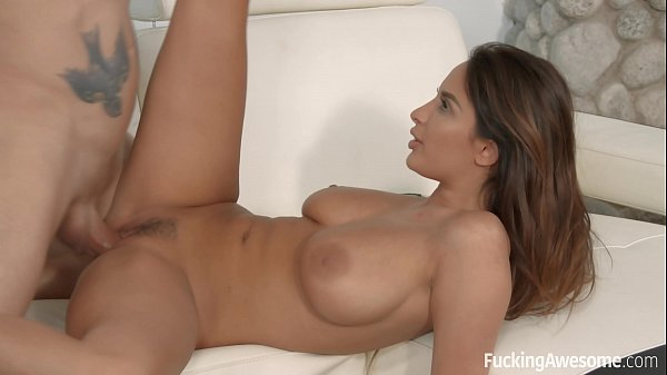 Anissa Kate invites her English teacher to fuck on the couch