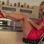 Raylene Richards teases his man with hot striptease