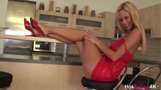 Raylene Richards teases his man with hot striptease